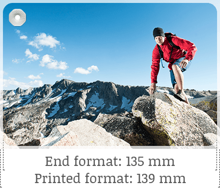 Printed image (e.g. fingerbook medium 135x90 mm)